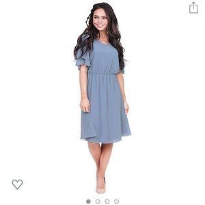 Mikarose Claire Flutter Sleeve Chiffon Dress